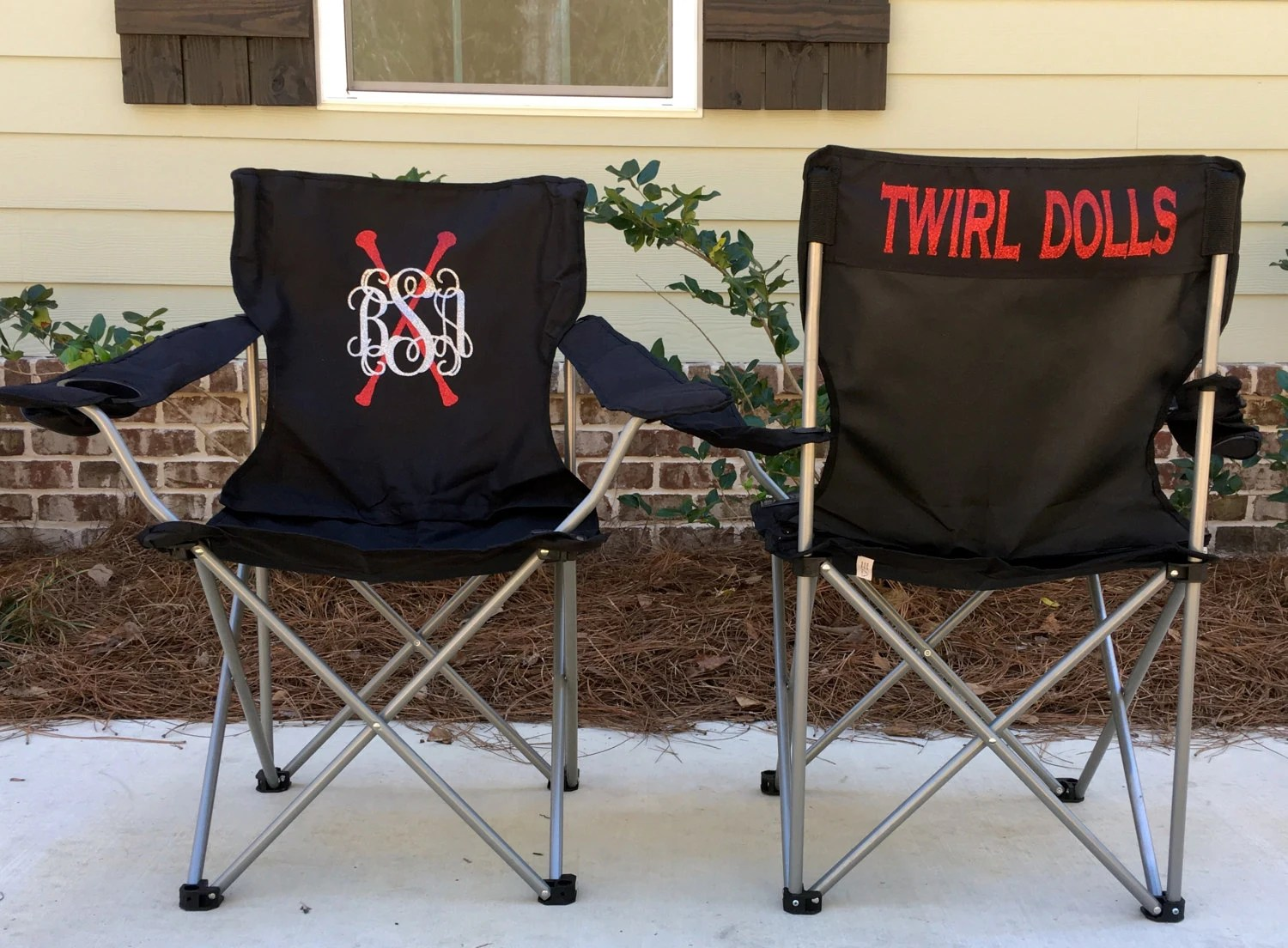 personalized folding chair high for baby custom twirl competition chairs gallery photo