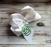 monogram hair bow monogrammed