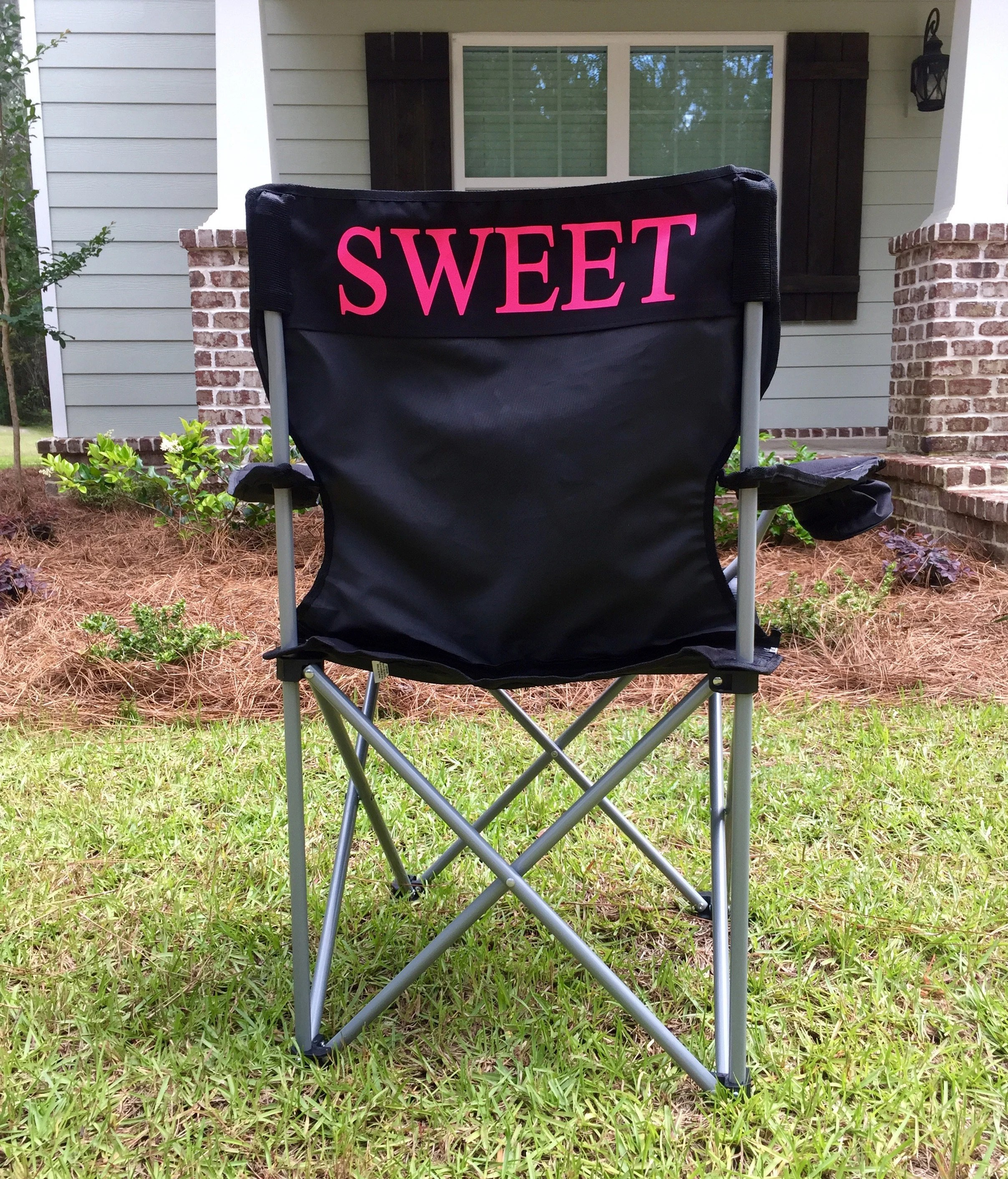 personalized folding chair target little kid chairs custom monogrammed camping etsy image 0