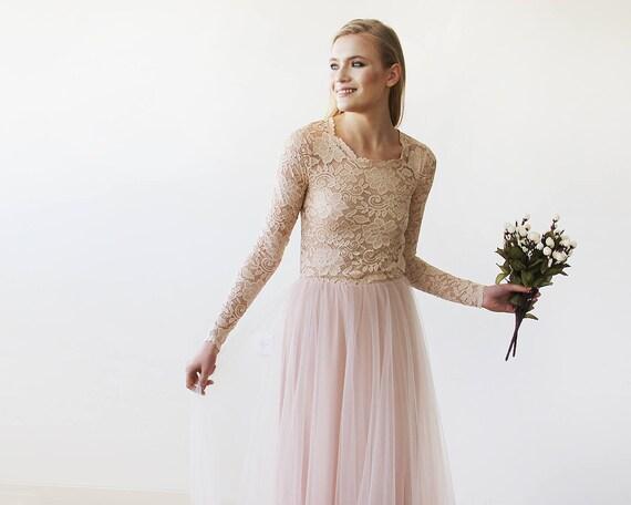 Hochzeitskleid Rosa Blush  Friseur