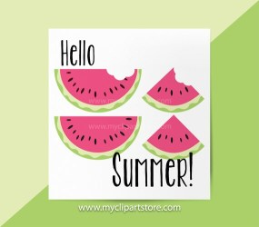 Watermelon Slices Clipart Single Juicy Fruit sliced watermelon cute watermelon Summer Clipart Commercial Use HTV print to cut SVG by MyClipartStore Catch My Party