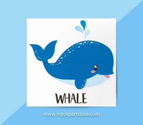 Whale Clipart Single Fish baby whale beach ocean under the sea underwater birthday invite Commercial Use HTV print to cut SVG by MyClipartStore Catch My Party