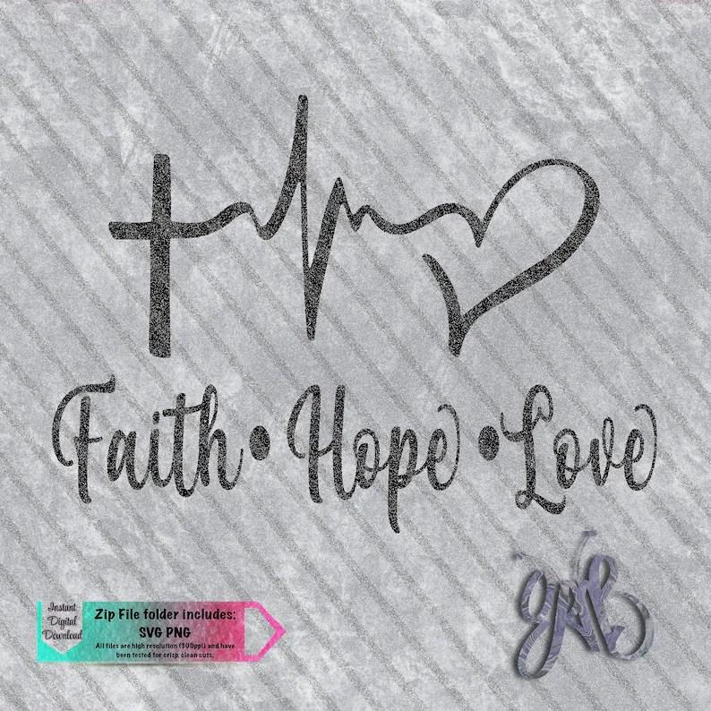 Download Faith Hope Love Cross EKG Heart conception personnalisée ...