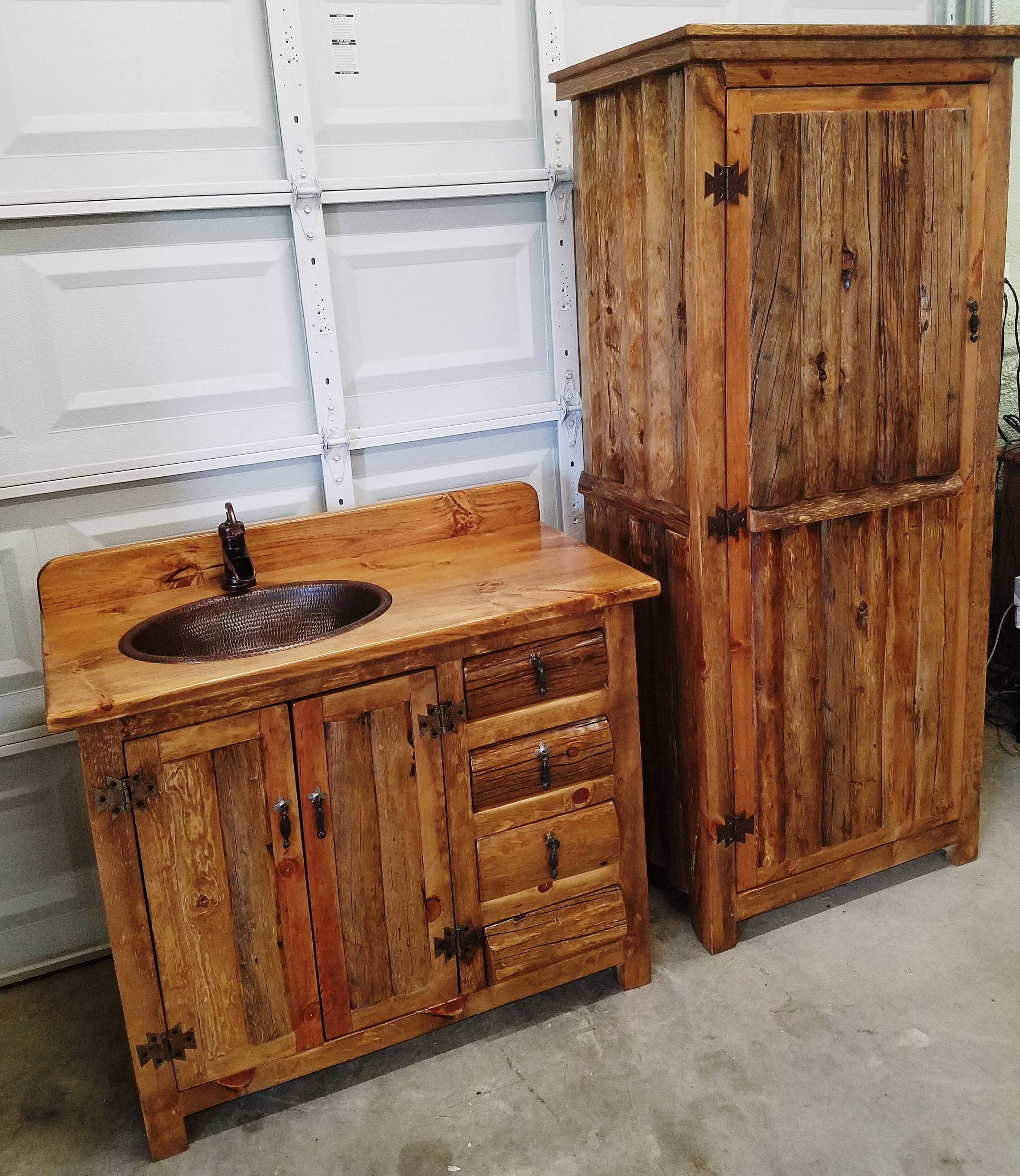 Rustic Linen Cabinet For Rustic Bathrooms 72 Tall 33 Wide Old Pine Logs Made For Our Rustic Bathroom Vanities Used In Kitchens Too