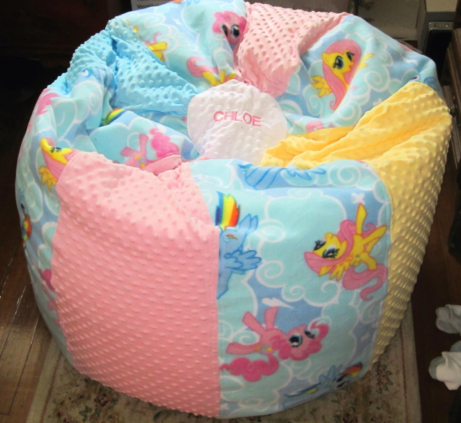 bean bag chair covers plycraft for sale tween my little pony cover only add a name etsy image 0
