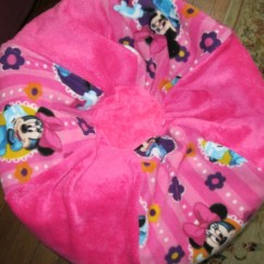 Minnie Mouse Bean Bag Chair Swivel Rocking Chairs For Living Room Add A Name Kids Pouf Stuffed Etsy Image 0