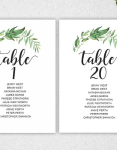Image also greenery table seating chart template instant download etsy rh