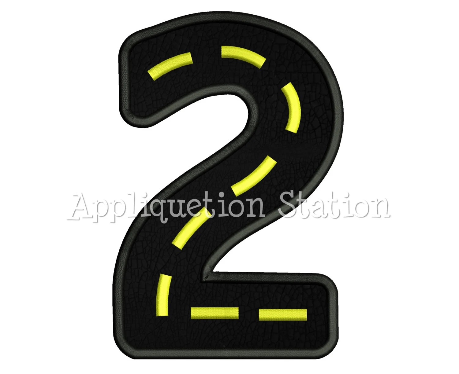 Road Number Two 2nd Birthday Applique Machine Embroidery
