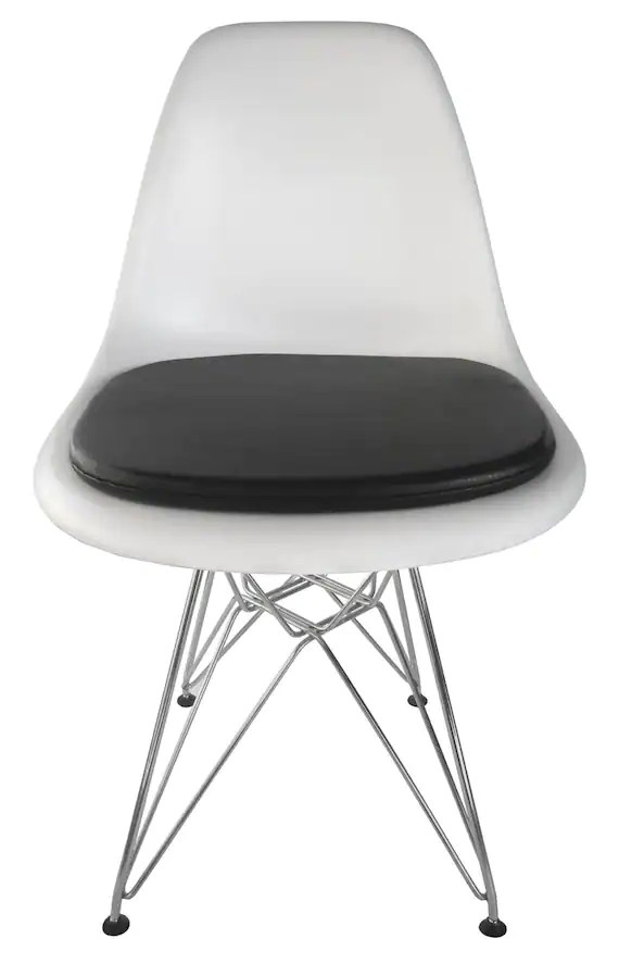 eames molded side chair chairs at home depot cushion for plastic vinyl or etsy image 0