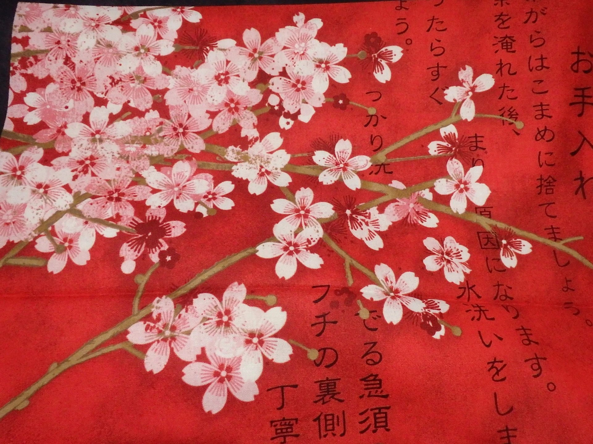 red cherry blossoms etsy