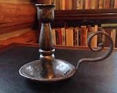Iron candle holder large blacksmith handmade christmas or holiday gift