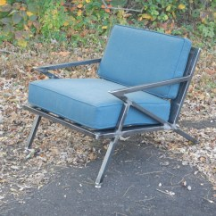 Z Chair Mid Century Low Profile Camping Chairs Modern Industrial Welded Steel Lounge Etsy Image 0