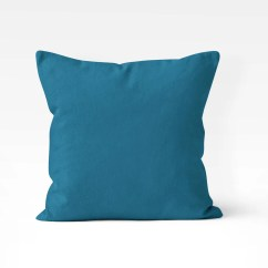 Pillow Covers For Living Room Small Corner Fireplace Solid Color Amazing Teal Home Decor Dark Sofa