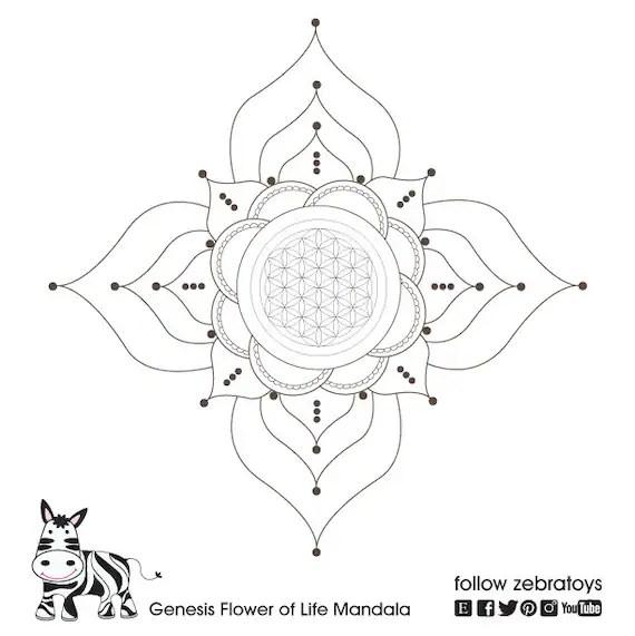 The Flower of Life Mandala-Sacred Geometry-Spiritual