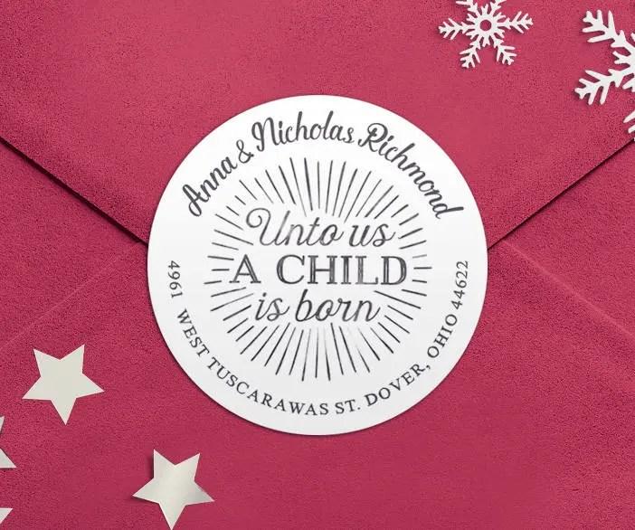 address labels christmas christian