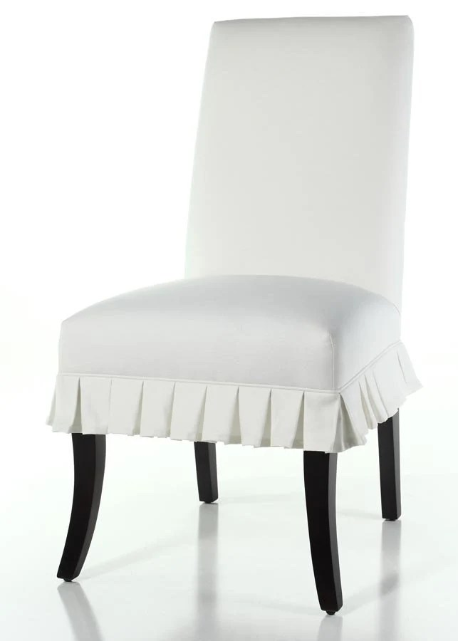 white slipcover chair and ottoman little tikes table etsy box pleated side