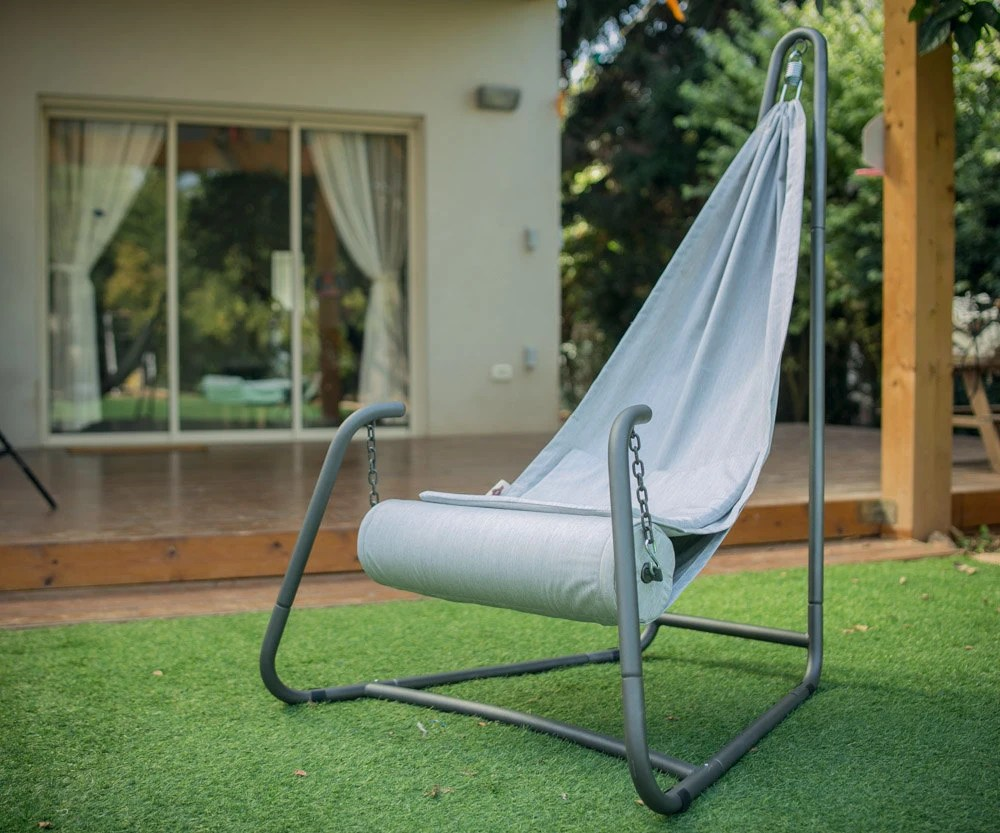 Indoor Hanging Chair With Stand Hang Urban Grey Hanging Chair With Stand For Indoor And Outdoor