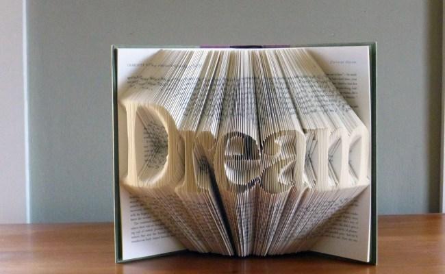 Unique Gifts Present Dream Custom Folded Book Art Etsy