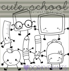 Kawaii School Clipart Personal and Limited Commercial Etsy
