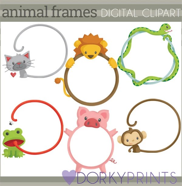 animal frame clipart personal