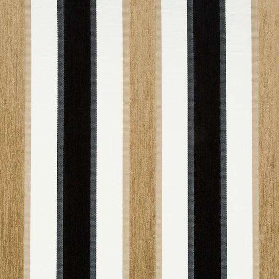 fabrics for chairs striped gaming walmart black white velvet stripe upholstery fabric furniture etsy image 0