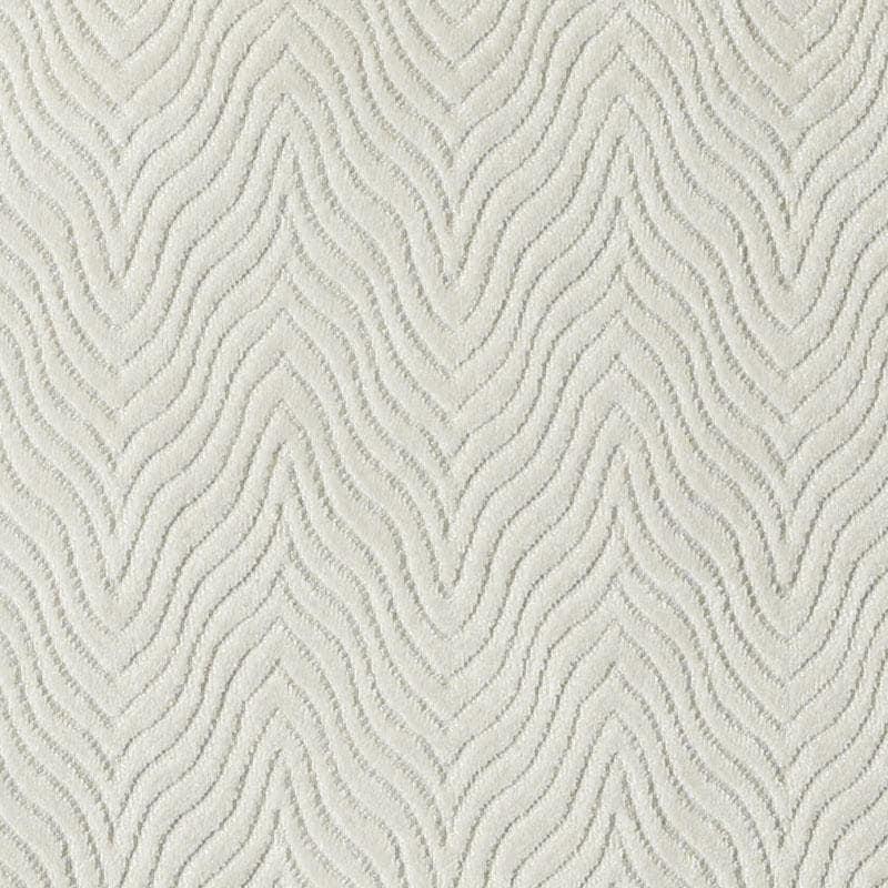 Contemporary Ivory Velvet Upholstery Fabric Textured