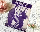 Vintage 1952 The Bunny Hop Sheet Music by Ray Anthony & Leonard Auletti with Tony Curtis and Janet Leigh Dancing Photo Cover Art 1950s