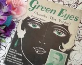 Vintage Antique 1929 Green Eyes Sheet Music Art Deco Flapper Cover Art by Sullivan Lyric Adolfo Utrera Music Nilo Menendez Cancion Bolero