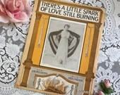 Antique Vintage 1914 There's A Little Spark of Love Still Burning Sheet Music 1910s Edwardian Photo Cover Art Kitty Gordon Art Deco
