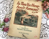 Antique Vintage 1904 SHEET MUSIC I'll Take You Home Again KATHLEEN Beautiful Cover Art 1910s Words & Music by Thomas P Westendorf