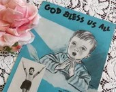 Vintage 1953 God Bless Us All Sheet Music with Barbelle Cover Art of a Little Boy Praying by Bedside Lyrics Tom Murray Music Tony Burrello