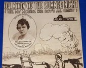 Vintage 1918 Moon Of The Summer Night World War I Sheet Music Doughboy Battlefield Cover Art