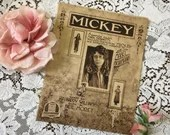 Antique Vintage 1918 MICKEY Sheet Music Mack Sennett's Photoplay Miss Mabel Normand Sepia Cover Art Words Harry Williams Music Neil Moret