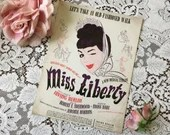 Vintage 1948 MISS LIBERTY Let's Take An Old-Fashioned Walk Sheet MUSIC Irving Berlin Musical Comedy Robert Sherwood Cover Art 1940s