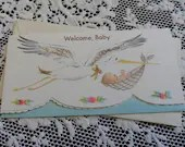 Vintage Welcome Baby Embo...
