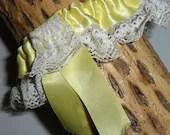 Vintage Yellow Satin Ribb...