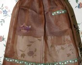 Vintage Brown Sheer  See Through Bellmanized Half Apron 1950s Never Used