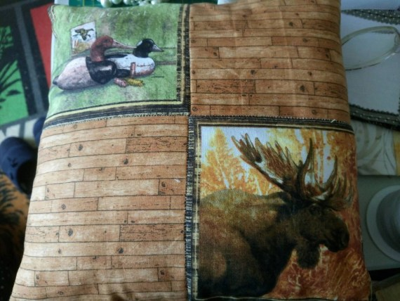 Duck and moose cushion