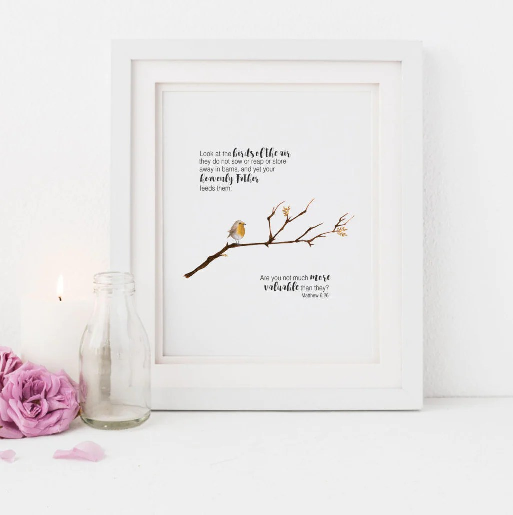 Matthew 6 26 Scripture Do Not Worry Easter Print