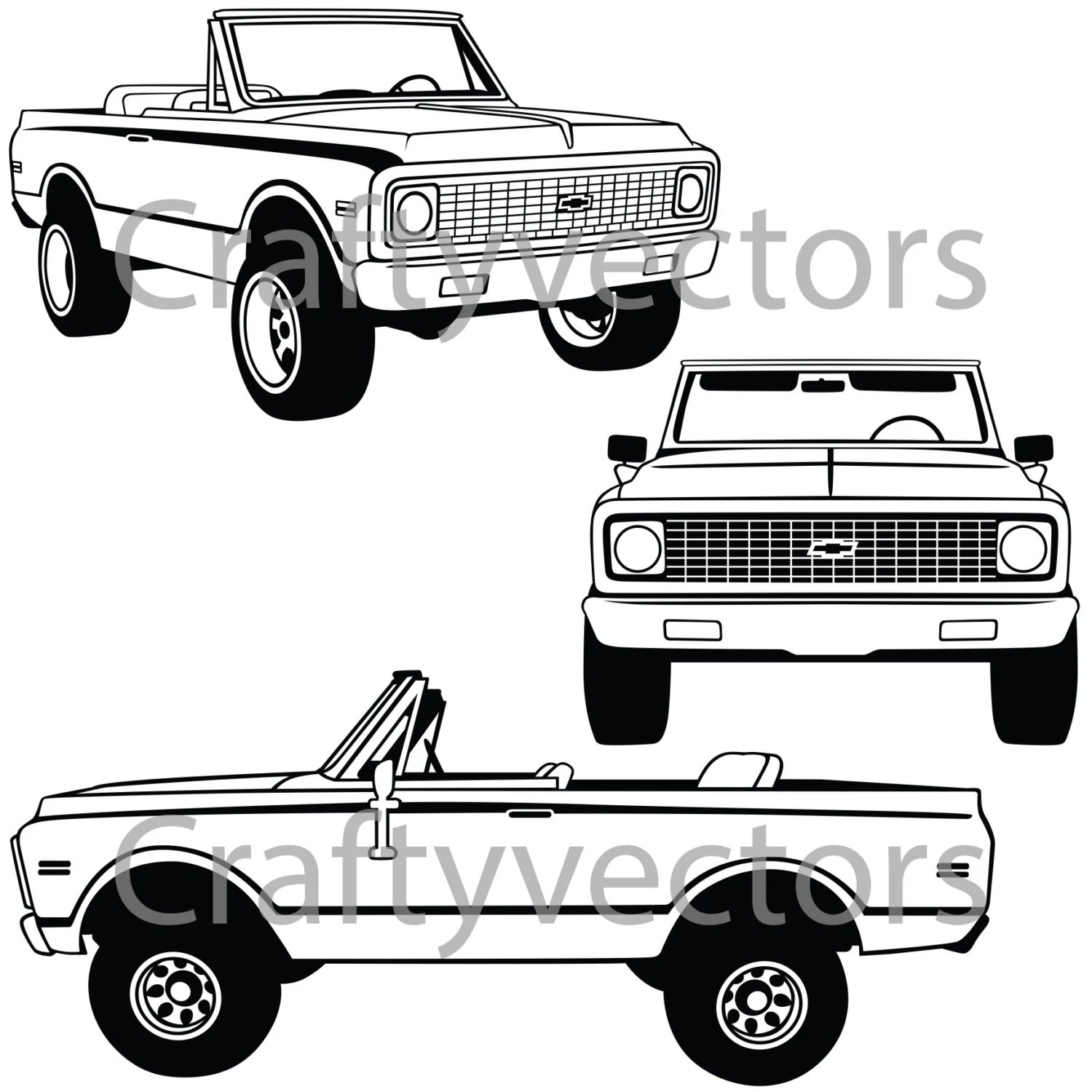 Chevrolet Blazer 72 Vector File