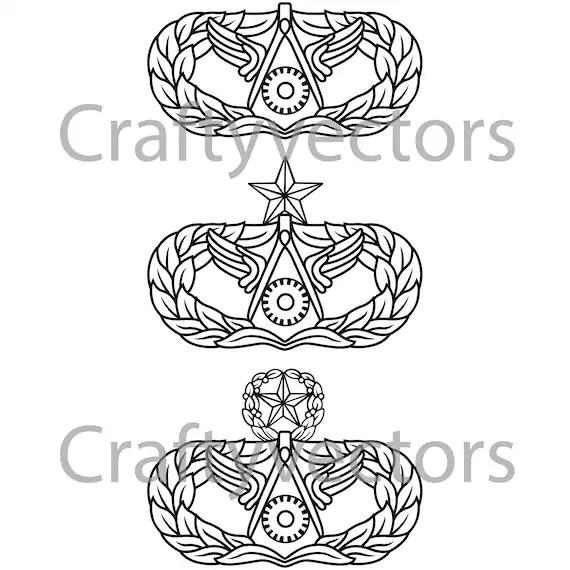 Air Force Civil Engineering Occupational Badge Vector File