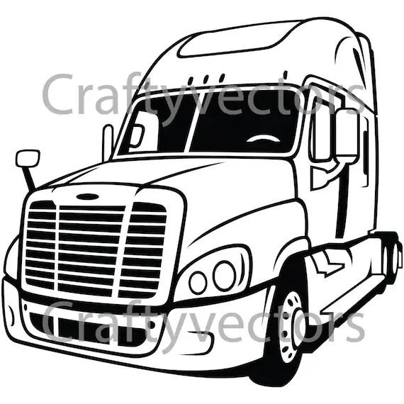 Freightliner Cascadia Rig vector file