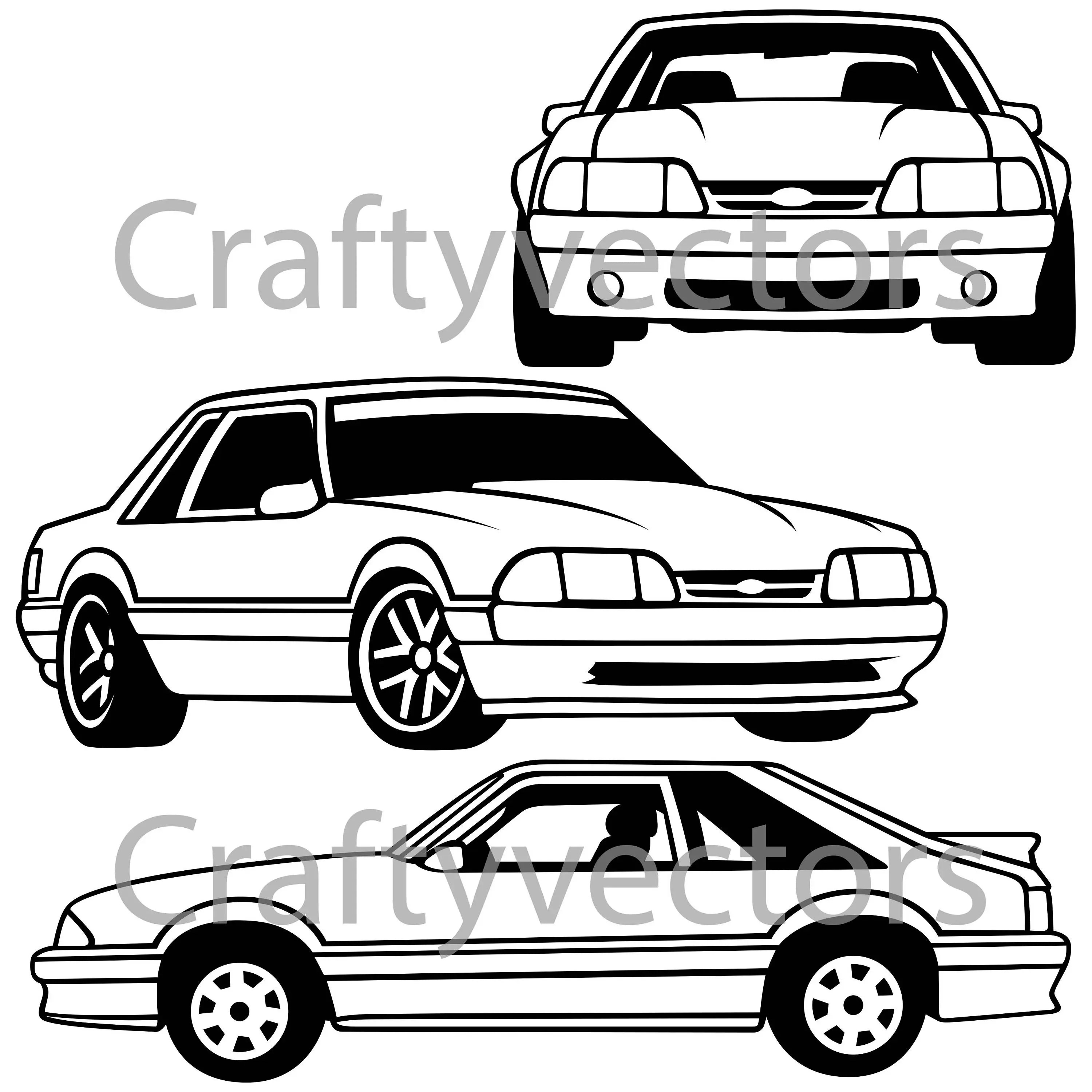 Ford Mustang 88 Vector File