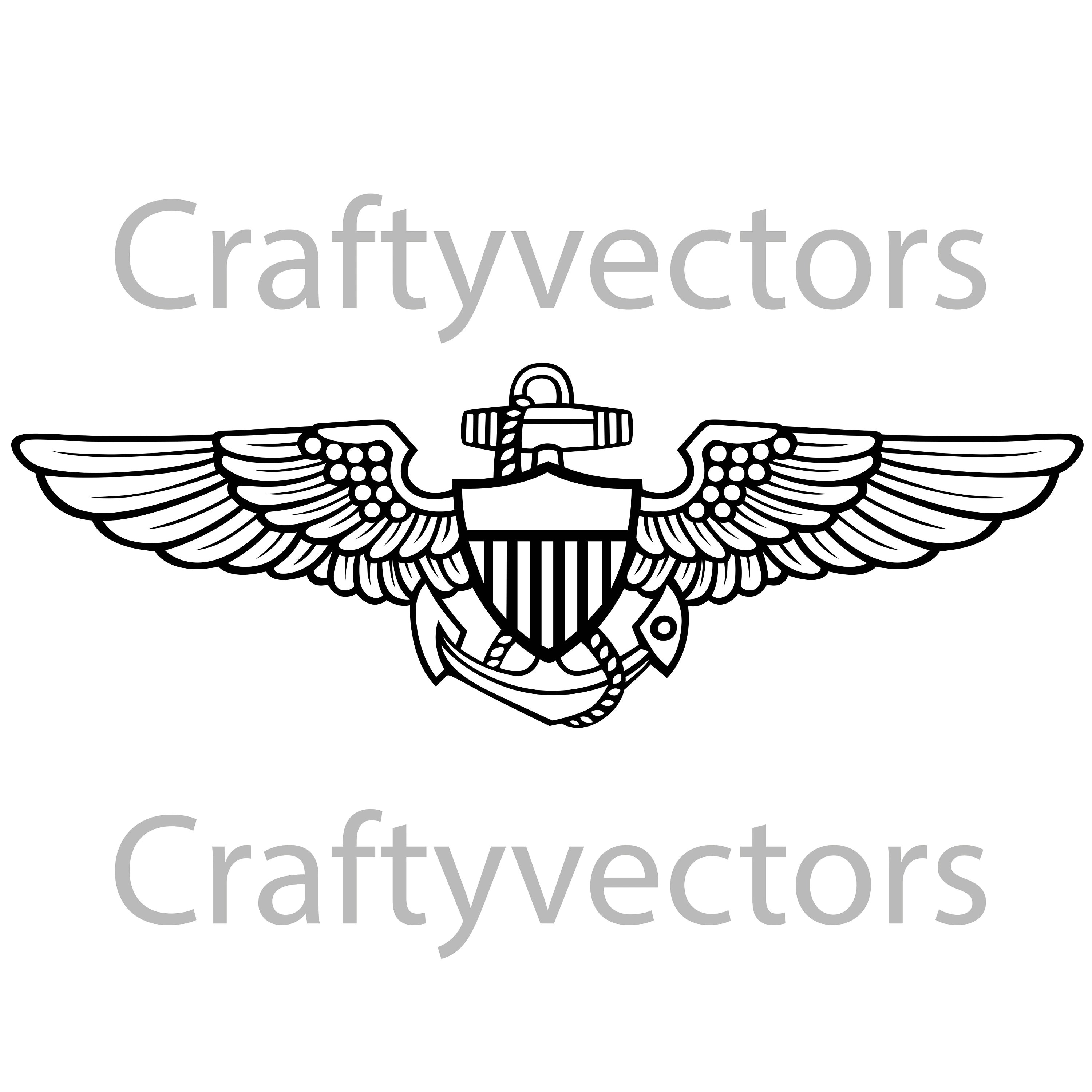 Navy Aviator Insignia Vector File