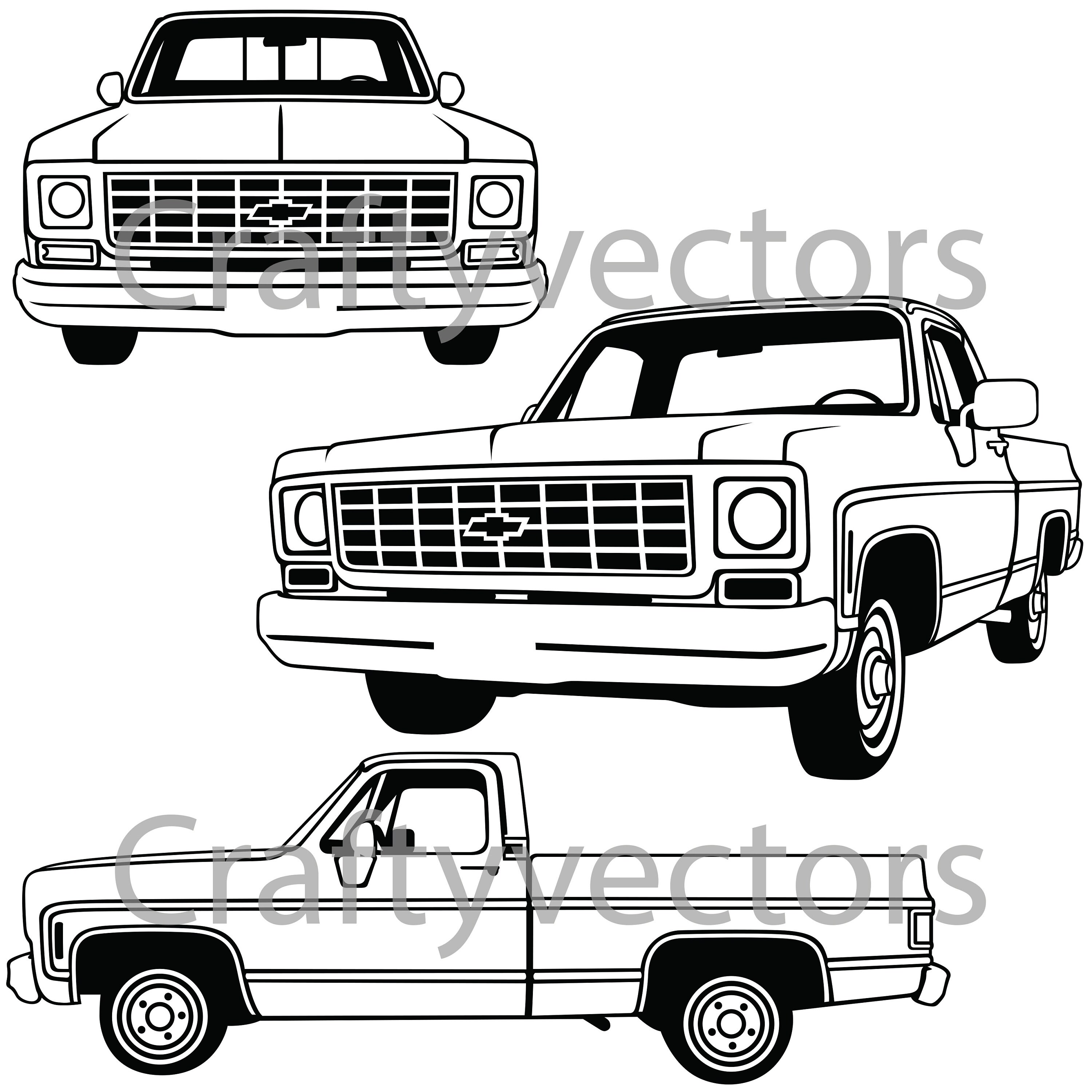 Chevrolet C10 Truck Vector File