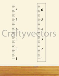 Image also ruler growth chart vector template inches etsy rh