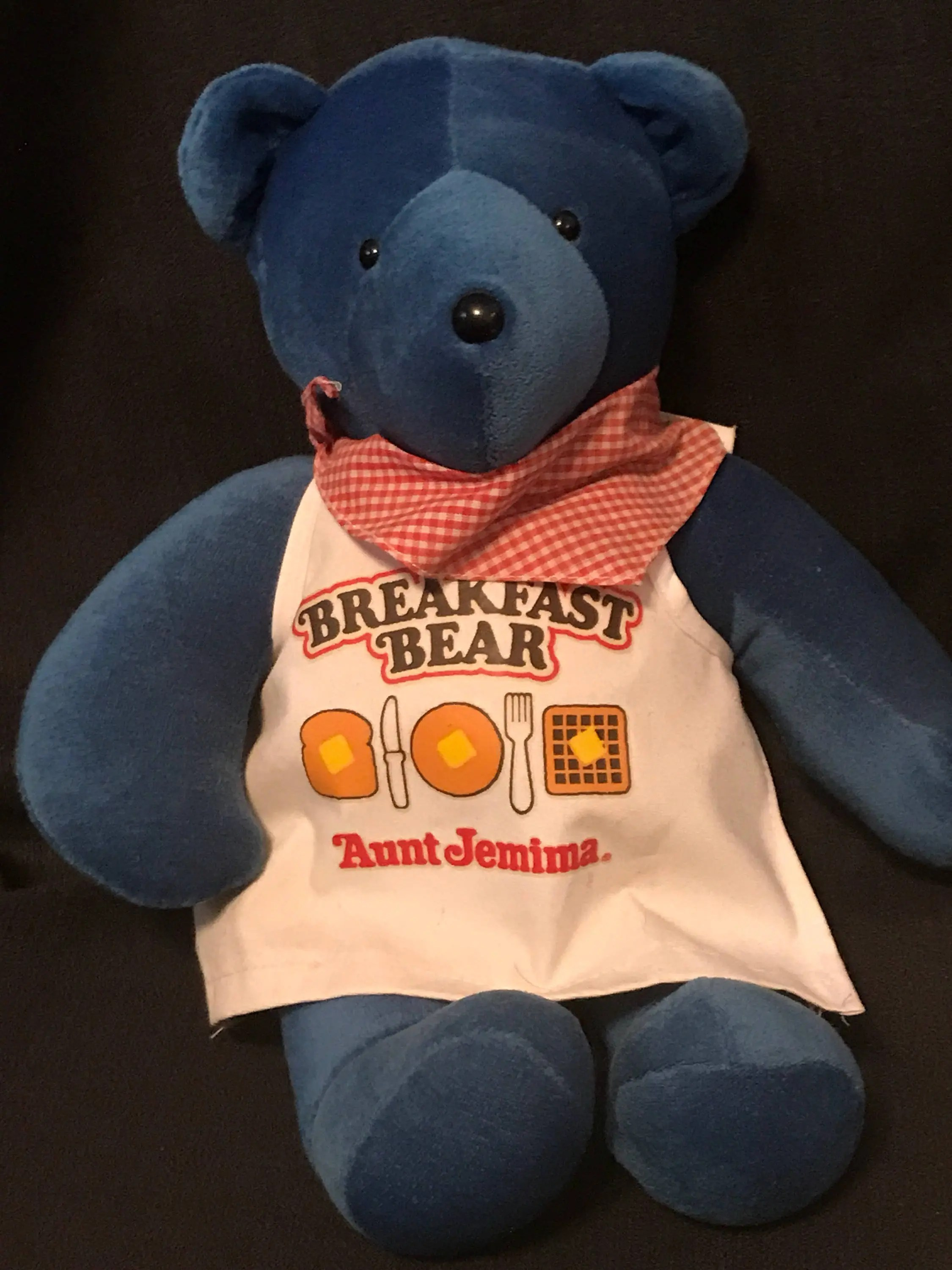 aunt jemima kitchen curtains big sinks etsy vintage toy teddy bear baby bare 1984 blue