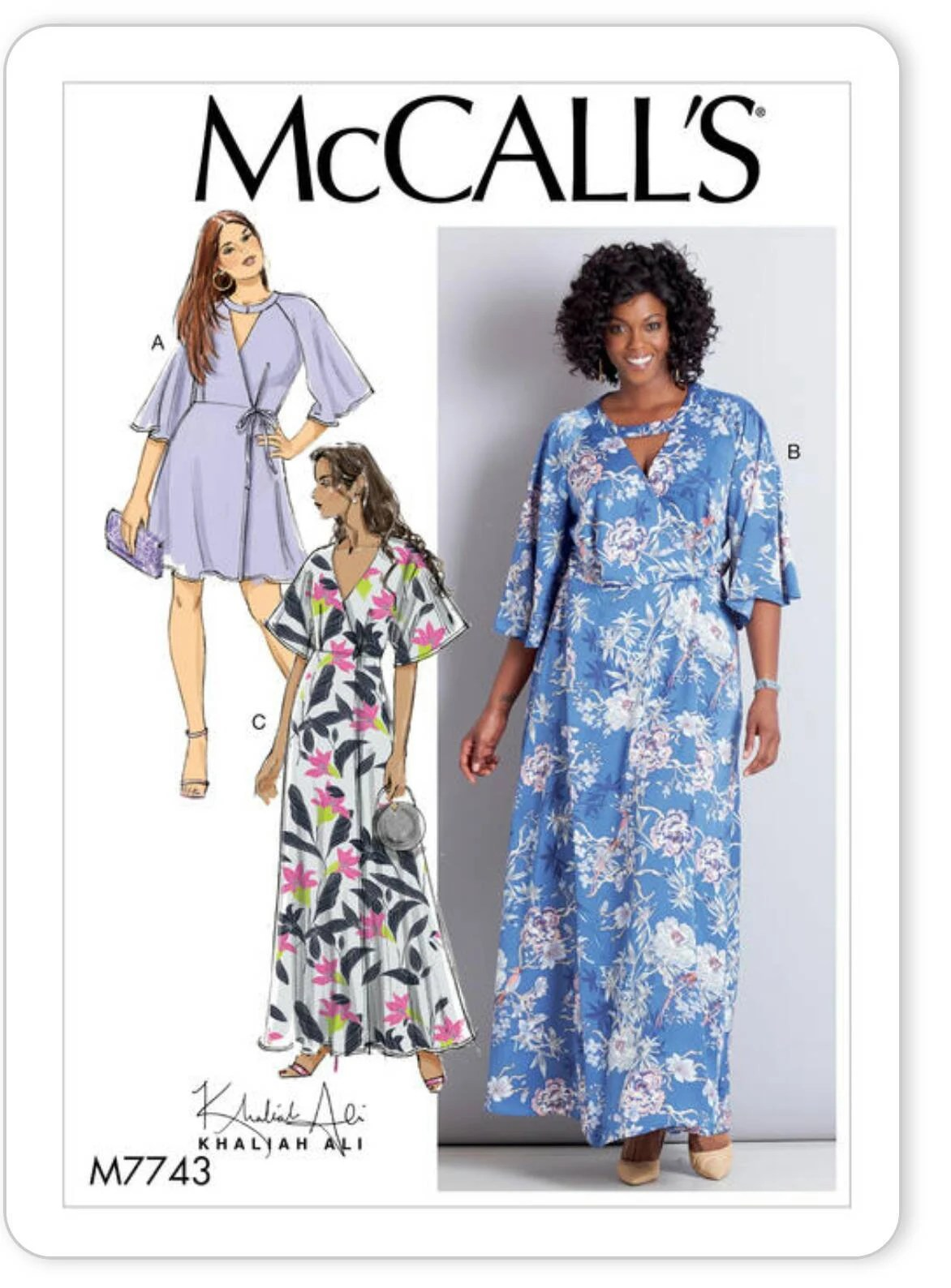 Plus Size Wrap Dress Pattern : dress, pattern, Plus-Size, Dress, Sewing, Pattern, McCall's, M7743, Sizes