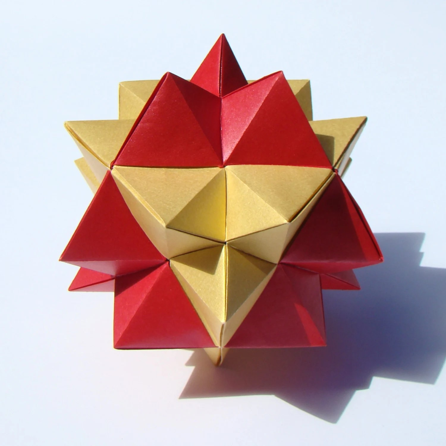 cool modular origami diagram rib relay wiring diagrams second stellation of the cuboctahedron etsy image 0