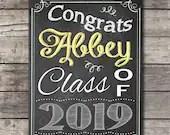 Vintage Chalkboard Graduation Party Sign Congratulations Congrats Welcome Birthday Bridal or Baby Shower Wedding Digital File DIY